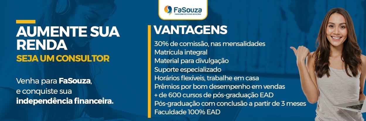 Aumente sua renda, seja um consultor educacional (agenciador) da FaSouza