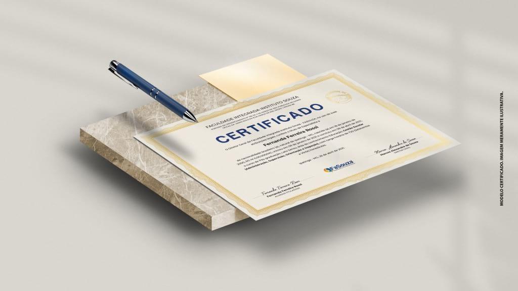 Modelo de Certificado da Pós-graduação na FaSouza