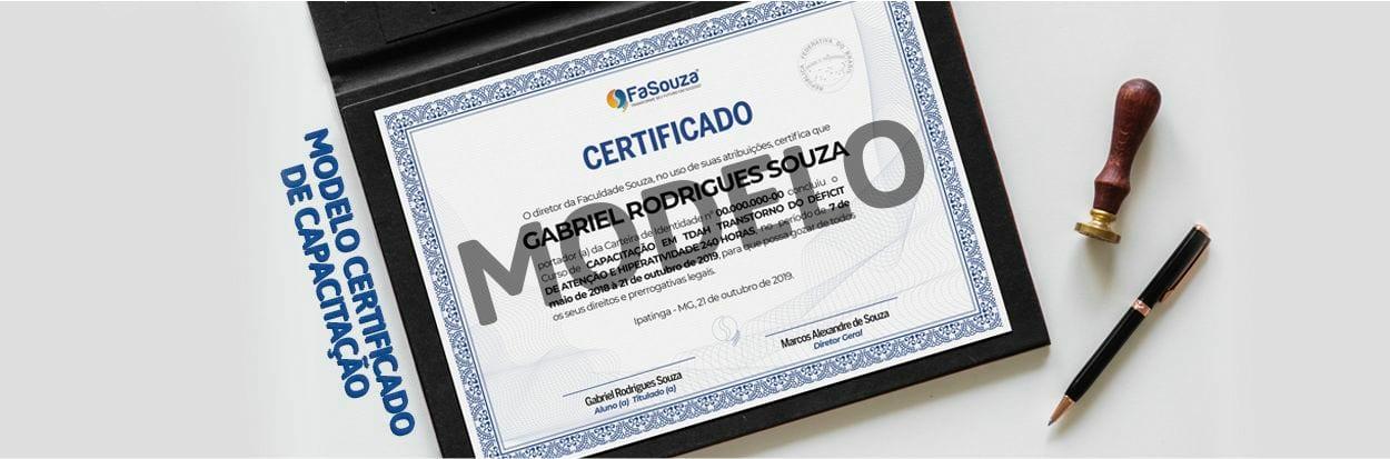 Modelo Certificado de Capacitação